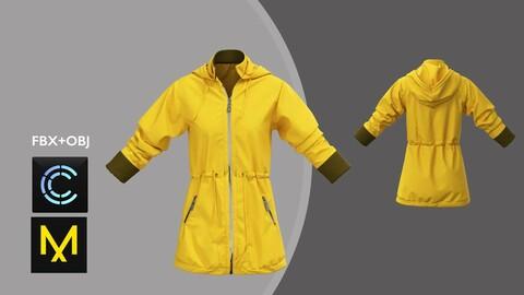 Female Jacket. Marvelous Designer/Clo3d project + OBJ + FBX