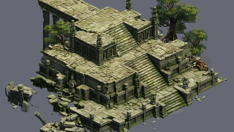 Model - Kashayana Buddha Forest Law Hall altar 02