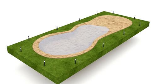 The natural beach pool
