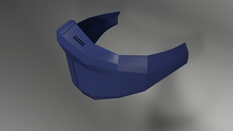 Futuristic mask Version Beta-1.1 - Digital STL File - 3D Printing Technology