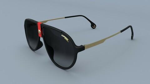 Carrera Square Pilot Sunglasses 3D Model