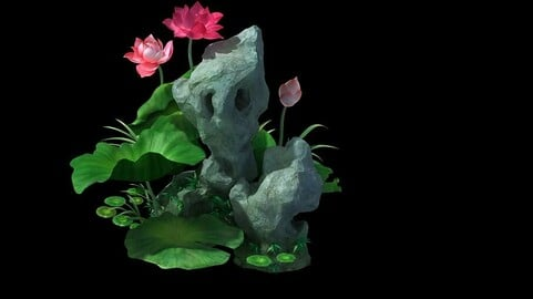 Game model - Hanging Garden - Fairy Clouds flowers