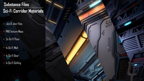 """""""Sci-Fi Corridor"""" Scene Materials"""