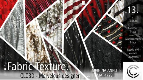 13 .Fabric Texture. Clo3d, Marvelous Designer.