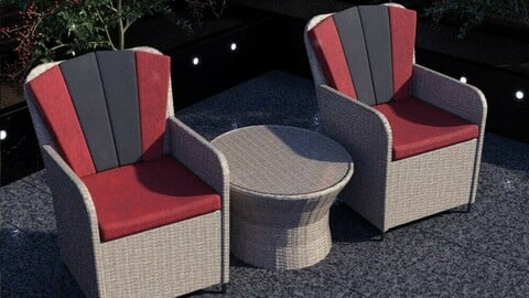Contemporary Garden Furniture Set 02