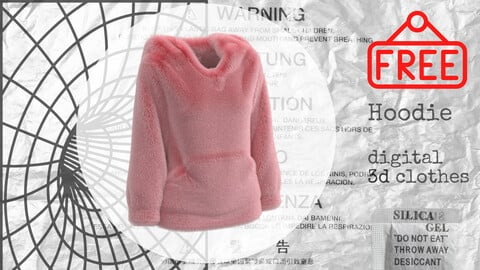 Fur Hoodie 3d Clothes in Marvelous Designer & CLO3D