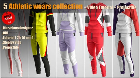 Athletic wears collection + Video Tutorial + Project file
