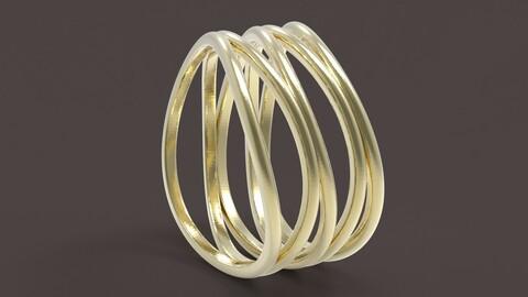 5 hoops ring