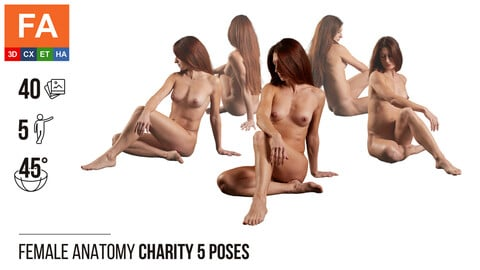 Female Anatomy | Charity 5 Various Poses | 40 Photos