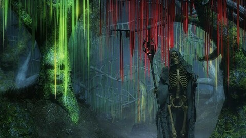 All Hallows Eve Slime Trees