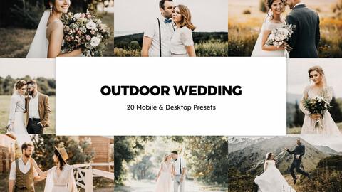 20 Outdoor Wedding LUTs and Lightroom Presets