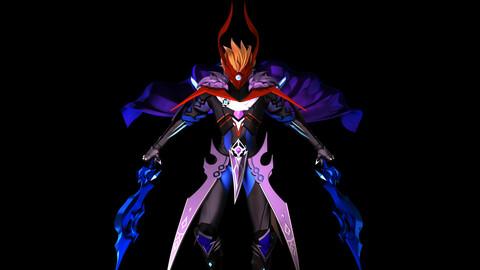 Childe (Foul Legacy form) - Genshin Impact STL