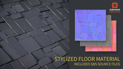 Procedural Stylized PBR Floor Material