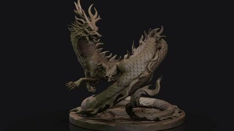 Asian Dragon Sculpt