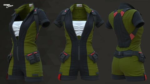 Sci-Fi Fantasy Wear 04 Female - 69 Marvelous Designer and Clo3D