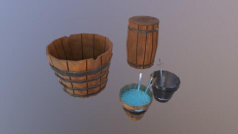 Buckets 3D Model