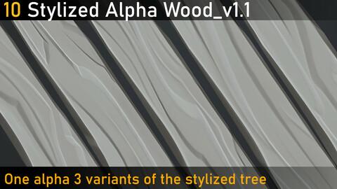 10 Stylized alpha wood_v1.1