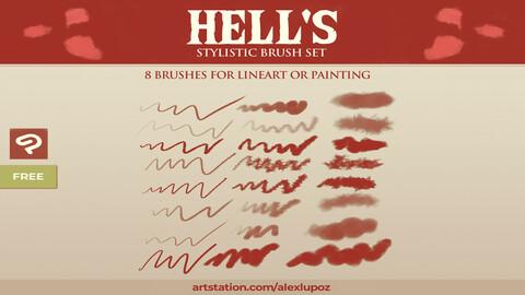 LPZ Hell's - Stylistic Brushes for CSP/Manga Studio 5