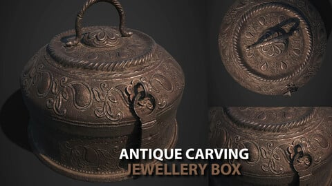 Antique Carving Jewellery Box