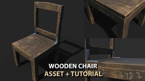 Wooden Chair Texturing Tutorial + Asset