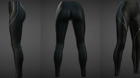 Leather Yoga Pants