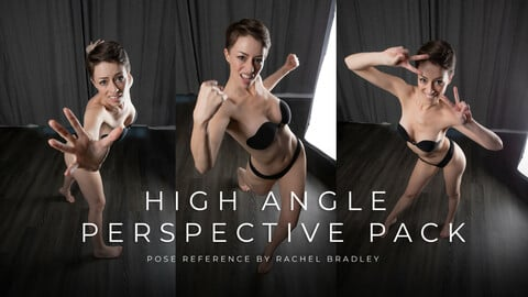 High Angle Perspective Pack - Pose Reference for Artists