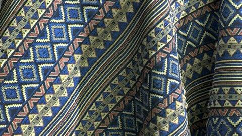 Blue ornament carpet/tapestry  PBR texture