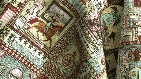 Old town ornament carpet/tapestry PBR texture