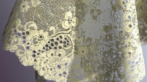 Delicate lace PBR texture