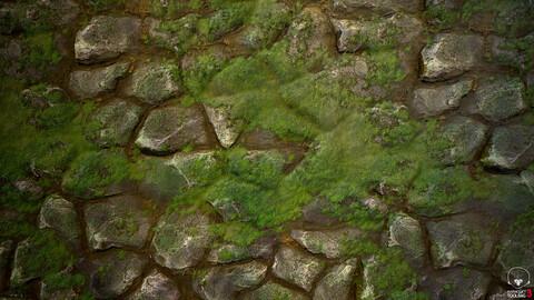 Mossy Rocks Material