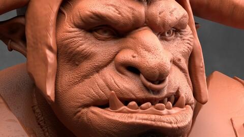 Ogre - Orc 3d model for print
