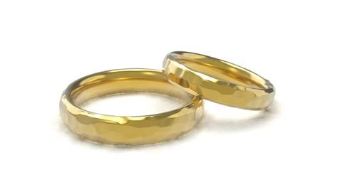 Beautiful nature wedding comfort rings 3D print model