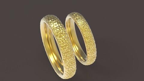 dragon comfort wedding rings 3D print model