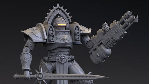 Prioress Battle-Armor Multipart Kit for 3D Print