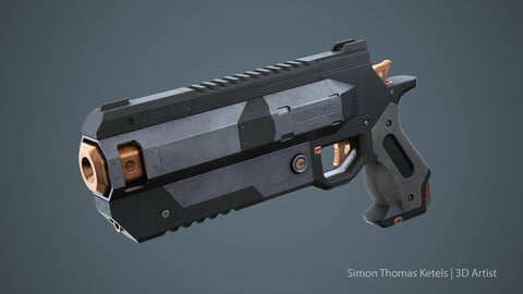Handgun Wingman (Game Ready)