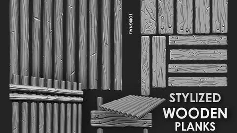 Stylized Wooden Plank IMM Brush Pack 21 in One