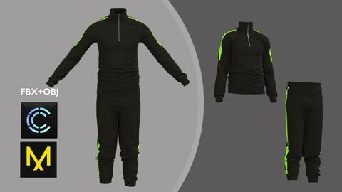 Male Sport Outfit Marvelous Designer/Clo3d project + OBJ + FBX