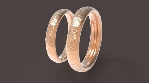 Nature comfort wedding rings 3D print model