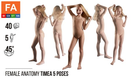 Female Anatomy | Timea 5 Various Poses | 40 Photos