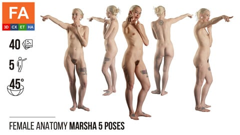 Female Anatomy | Marsha 5 Various Poses | 40 Photos