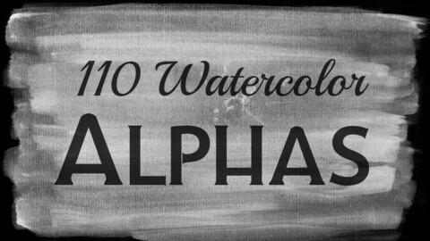 110 Watercolor Alphas Pack
