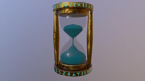 Stylized Sand Watch 3D Model