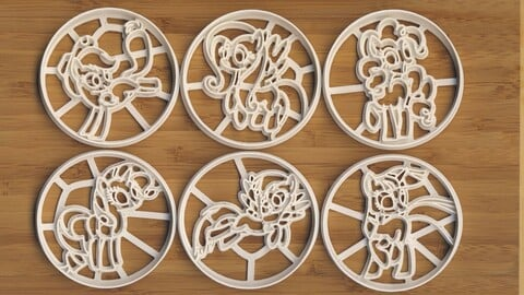 My Little Pony - Cookie Cutters [3D-models, free. For 3D-printing]