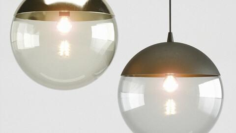 H&M Metal pendant light 3D model