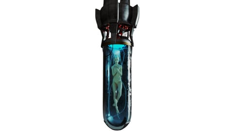 Sci-Fi Human Capsule Cyberpunk