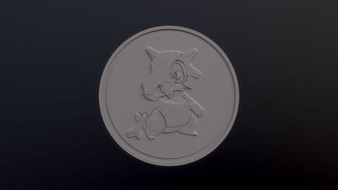 Cubone 3D printable model - Pokémon collectibles