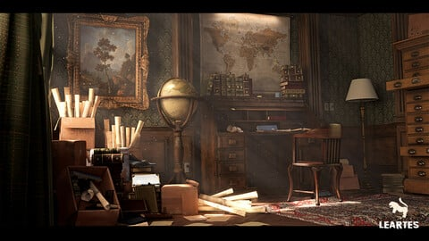Victorian Interior Environment / Unreal Engine 4