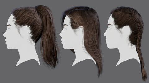 Realtime hairstyles set