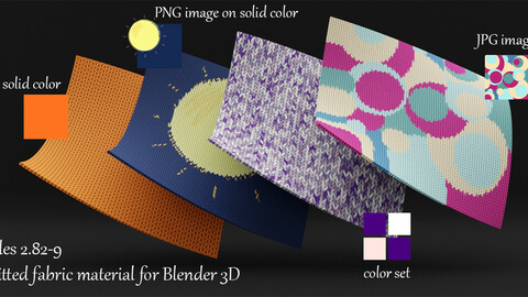 Procedural Knitted Fabric Material For Blender 3d. Cycles 2.92