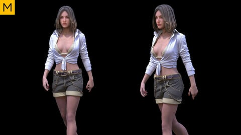 Womens clothing. Avatar genesis 8 Female. Marvelous Designer, Clo3d project + OBJ/FBX files (21)